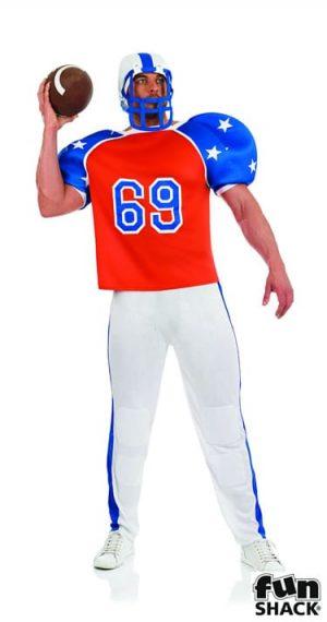American Footballer Men's Fancy Dress Costume
