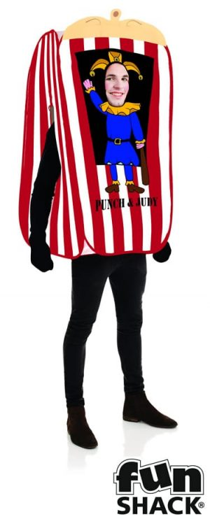 Punch the Puppet Booth Men's Fancy Dress Costume