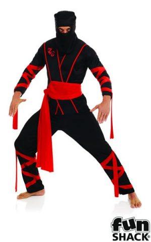 Ninja Mens Fancy Dress Costume