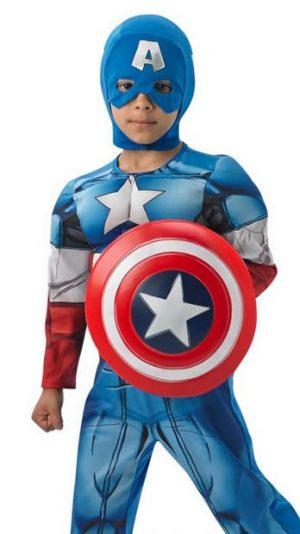Avengers Assemble Captain America Deluxe Children's Superhero Fancy Dress Costume