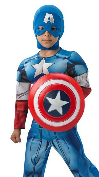 Avengers Assemble Captain America Deluxe Children's Superhero Fancy Dress Costume