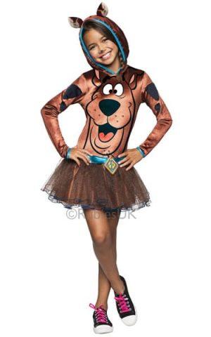 Scooby Doo Hoody Girl's Super Hero Childrens Fancy Dress Costume