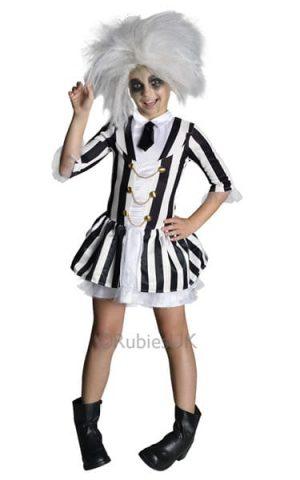 Beetlejuice Girl Children's Fancy Dress Costume