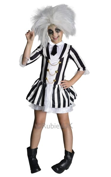 Beetlejuice Girl Children's Fancy Dress Costume