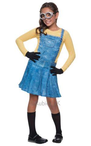 Despicable Me Minion Girl Children's Fancy Dress Costume (NEW)