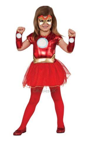 Li'l Iron Lady Super Hero Children's Fancy Dress Costume