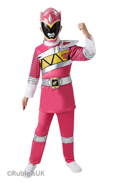 Dino Charge Deluxe Pink Ranger Children's Fancy Dress Costume