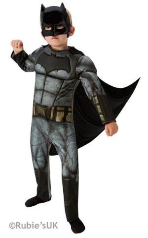 Batman Dawn of Justice Delux Super Hero Childrens Fancy Dress Costume