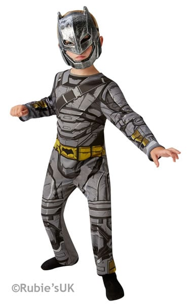 Batman Armour Dawn of Justice Classic Tween Super Hero Childrens Fancy Dress Costume