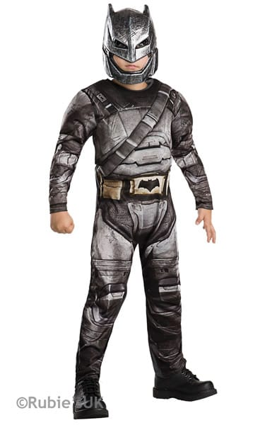 Batman Armour Dawn of Justice Deluxe Super Hero Childrens Fancy Dress Costume