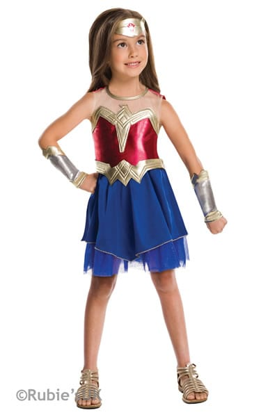 Wonder Woman Tween Super Hero Childrens Fancy Dress Costume