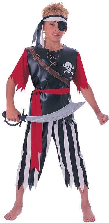 Pirate King Boys Children's Fancy Dress Costume