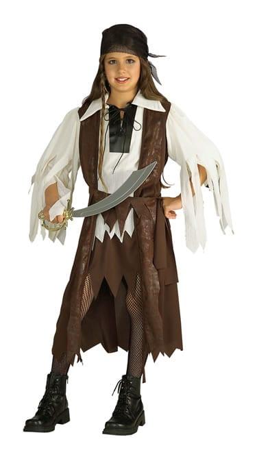 Caribbean Pirate Queen Girl's Children's Fancy Dress Costume