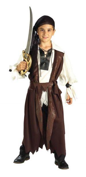 Caribbean Pirate Boy's Children's Fancy Dress Costume