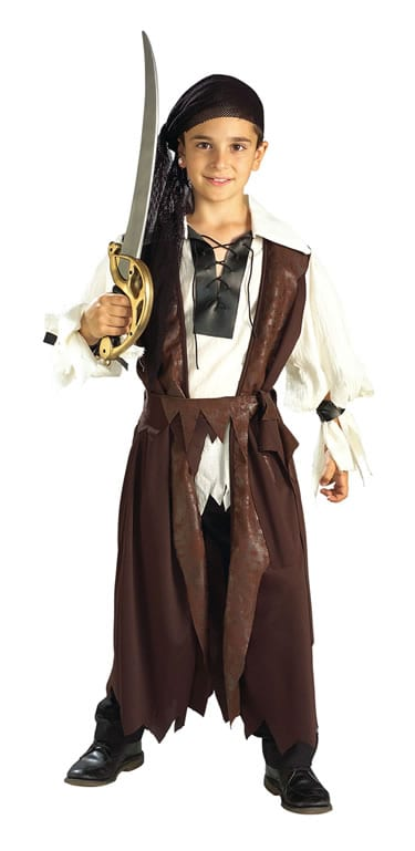 Caribbean Pirate Boy's Children's Fancy Dress Costume