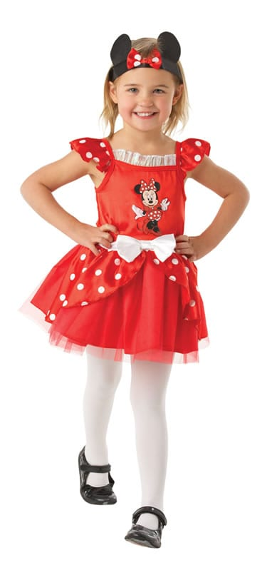 Disney's Ballerina Minnie Mouse Red Children's Fancy Dress Costume
