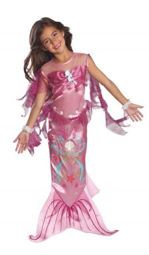 Mermaid Pink Children's Fancy Dress Costume