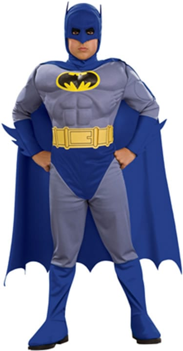 Batman Muscle Chest Children's Superhero Fancy Dress Costume