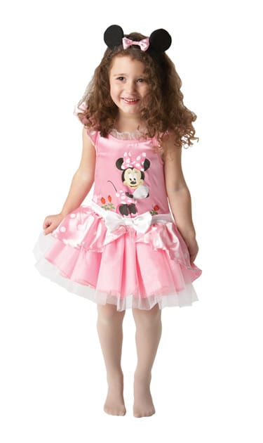 Disney's Ballerina Minnie Mouse Pink Children's Fancy Dress Costume