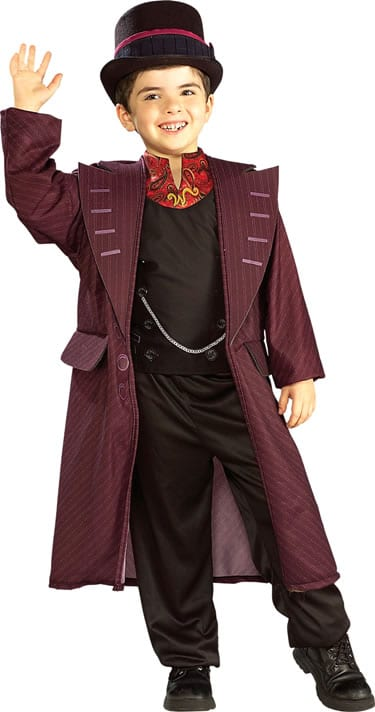 Charlie & The Chocolate Factory Willy Wonka Children's Fancy Dress Costume