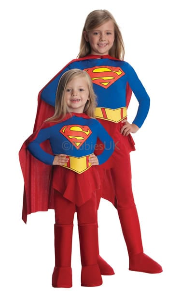Supergirl Super Hero Childrens Fancy Dress Costume