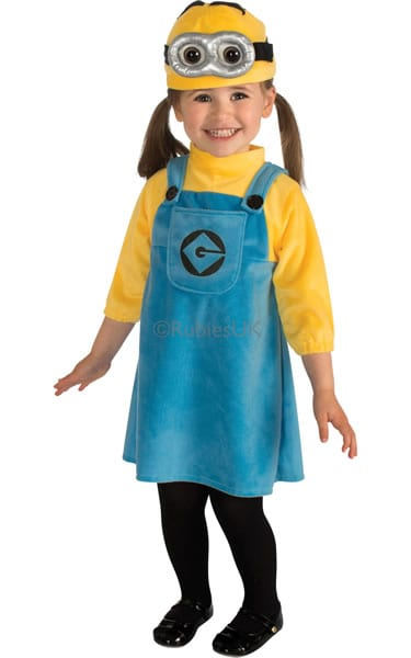 Despicable Me 2 Minion Girl Toddler Childrens Fancy Dress Costume
