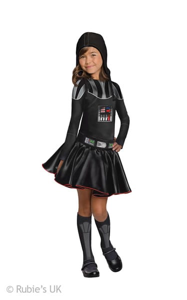 Star Wars Darth Vader Girl Children's Fancy Dress Costume