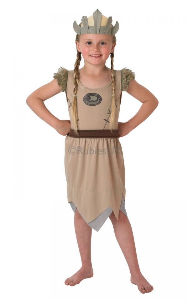 Viking Girl Children's Fancy Dress Costume (NEW)-0