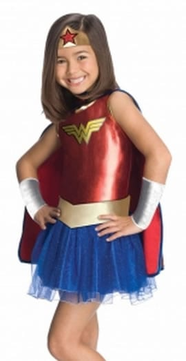 DC Super Hero Wonder Woman Children's Fancy Dress Costume