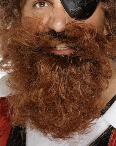 Deluxe Pirate Beard Brown