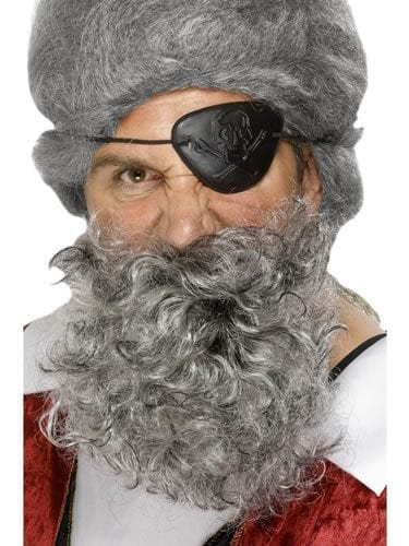 Deluxe Pirate Beard Light Grey