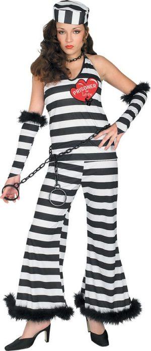 Prisoner of Love Ladies Fancy Dress Costume