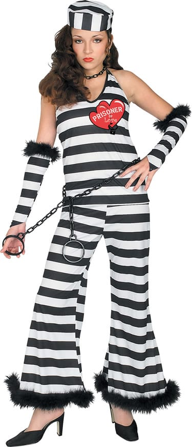 Prisoner of Love Ladies Fancy Dress Costume