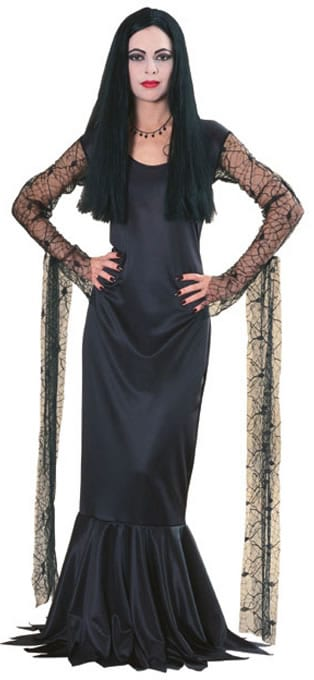 Addams Family Morticia Ladies Fancy Dress Costume