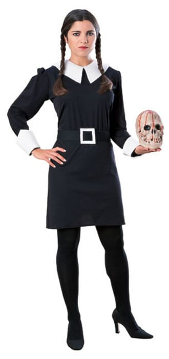 Addams Family Wednesday Ladies Fancy Dress Costume