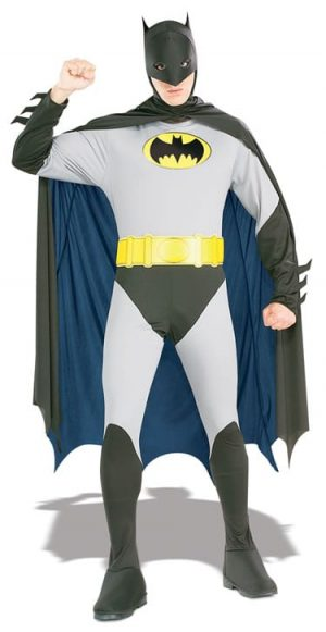 Batman Super Hero Mens Fancy Dress Costume