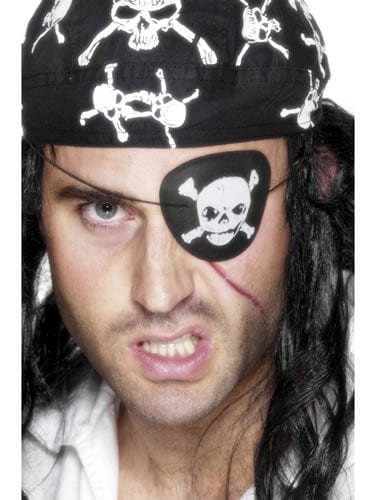 Pirate Eyepatch with Skull & Crossbones