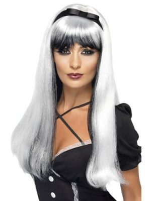 Bewitching Wig Silver over Black