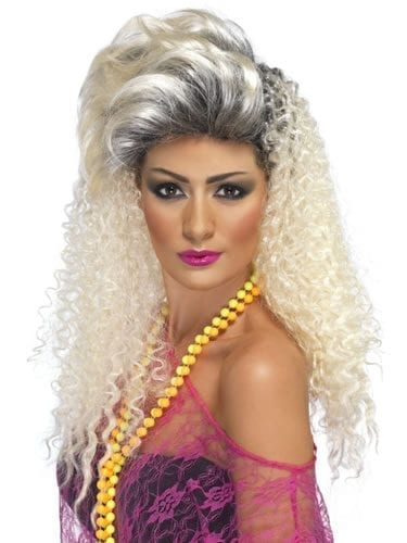 80's Bottle Blonde Crimp Wig