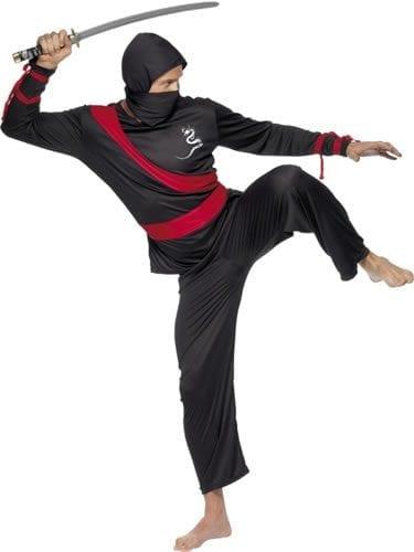 Ninja Warrior Mens Fancy Dress Costume
