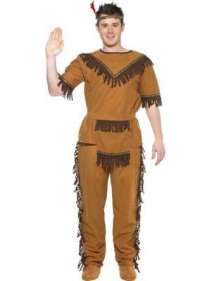 Indian Brave Men's Fancy Dress Costume