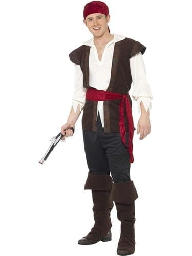 Pirate Men's Fancy Dress Costume (NEW)