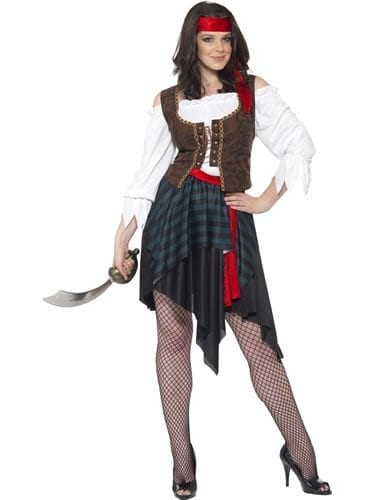 Pirate Lady Ladies Fancy Dress Costume