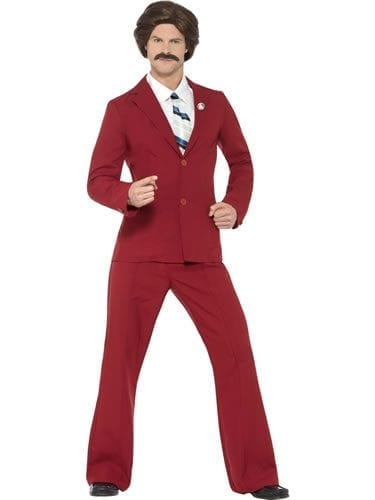 Anchorman Ron Men's Fancy Dress Costume