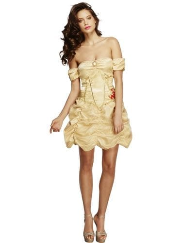 Fever Collection Golden Princess Ladies Fancy Dress Costume
