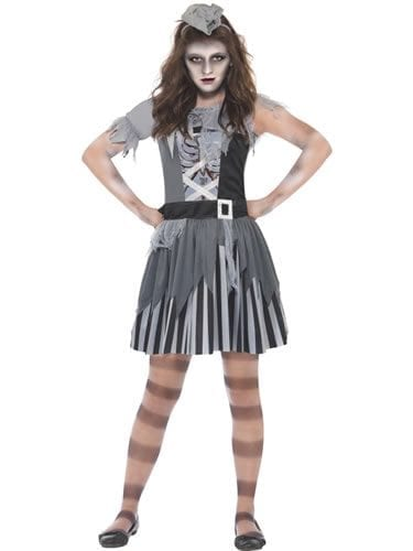 Ghost Ship Pirate Girl Children's Halloween Fancy Dress Costume
