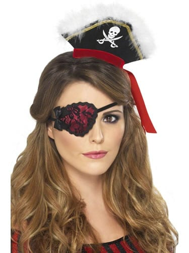 Red Eyepatch with Lace
