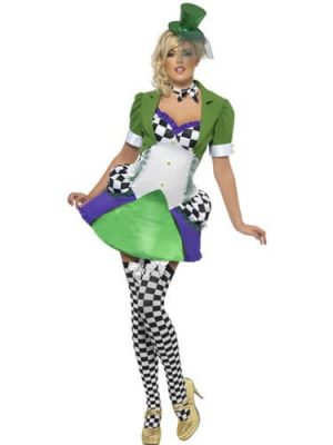 Fever Collection Miss Hatter Ladies Fancy Dress Costume