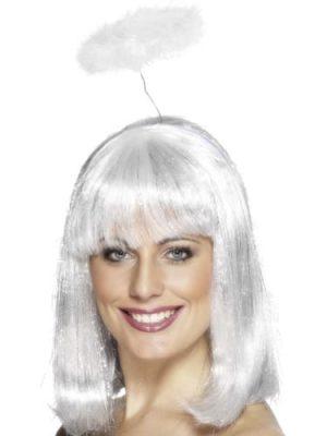 White Marabou Halo