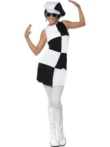 1960's Party Girl Ladies Fancy Dress Costume